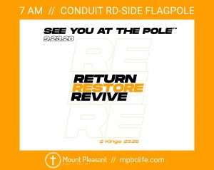 See You At The Pole @ Flagpole (Conduit Road side)