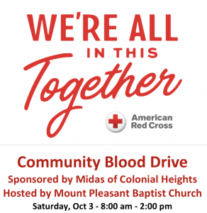 Red Cross/Midas Blood Drive @ CAC (Christian Activities Center)